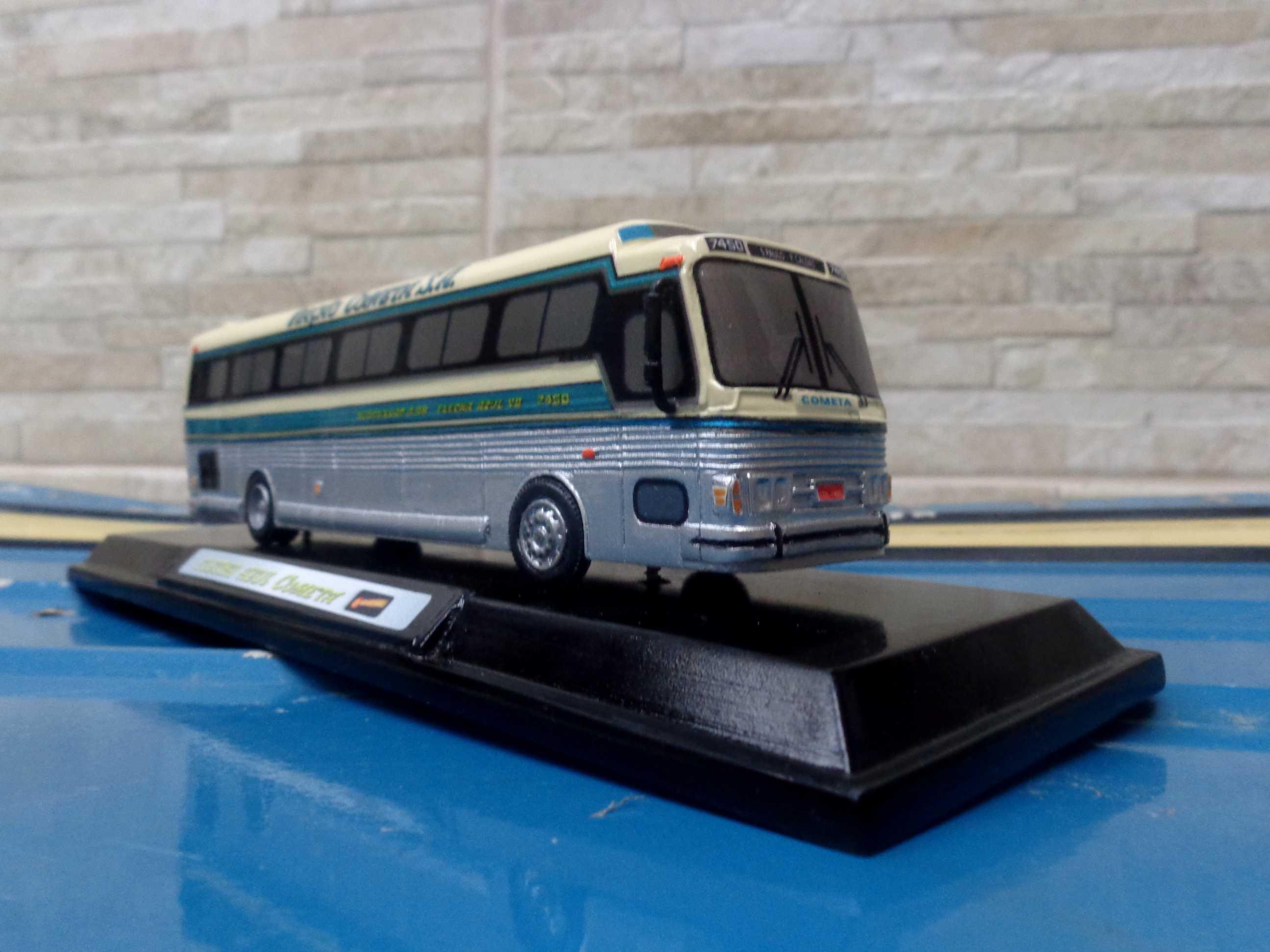 069d255e12 CMA Flecha Azul VII - Escala 1/64 - Miniaturas de Ônibus